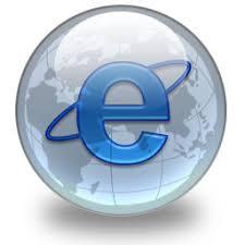 e di internet explorer su mondo