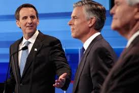 Image: GOP Presidential Candidates Hold First Debate In Iowa