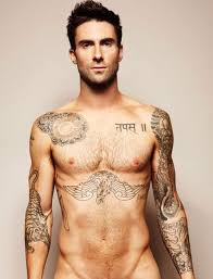 Adam Levine Gets Naked To