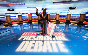 Tonight, eight candidates for the GOP nomination debate in Iowa.