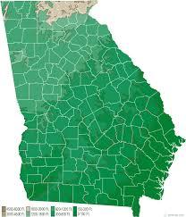 Georgia Elevation Map