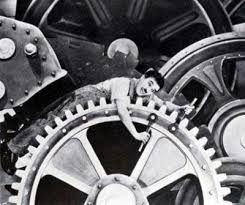 el Fordismo. La cadena de montaje de Chaplin en Tiempos Modernos