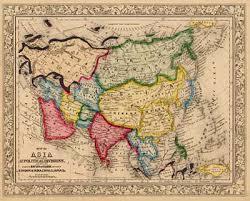 mappa dell'Asia