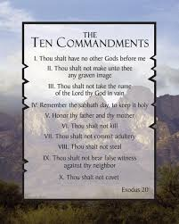 Here are the ten commandments
