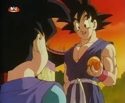Na montanha Paozu Son Goku Jr encontra-se com espirito de Son Goku