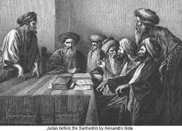 Der PROZESS Jeschua aus jüdischer Sicht -8- >Der Rettungsversuch< Alexandre_Bida_Judas_before_the_Sanhedrin_525