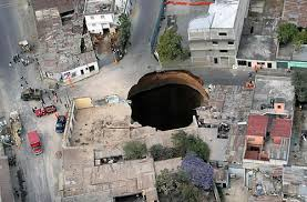 Sinkholes can cause structural