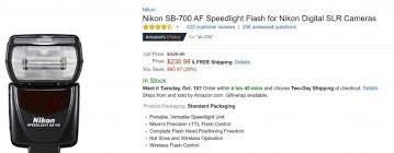 amazon black friday deals nikon camera accessories deal of the day u2013 nikon sb 700 af speedlight flash for 230 at
