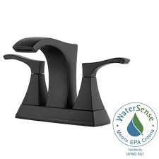 pfister venturi 4 in centerset 2 handle bathroom faucet in tuscan