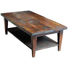 reclaimed semi rustic pine coffee table with bottom shelf and