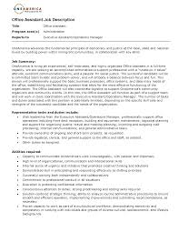 Office Engineer Job Description Office Assistant Job Description Resume 2016