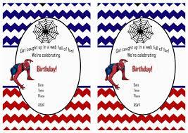 Free Printable Birthday Invitation Cards With Photo Free Printable Spiderman Birthday Invitations U2022 Free Printables Com