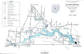 Ohio State Parks Map Delaware Reservoir Fishing Map Central Ohio