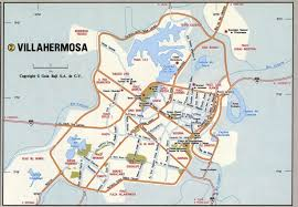 Mexico Cities Map by Villahermosa Map