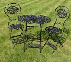 Cast Iron Patio Set Table Chairs Garden Furniture - vintage wrought iron patio furniture green popular vintage