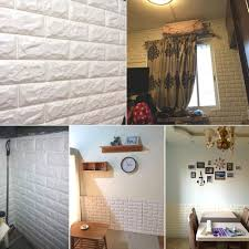 amazon com 20pcs 3d brick wall stickers self adhesive panel decal amazon com 20pcs 3d brick wall stickers self adhesive panel decal pe wallpaper pe foam self adhesive brick pattern soft pack tv sofa background living room