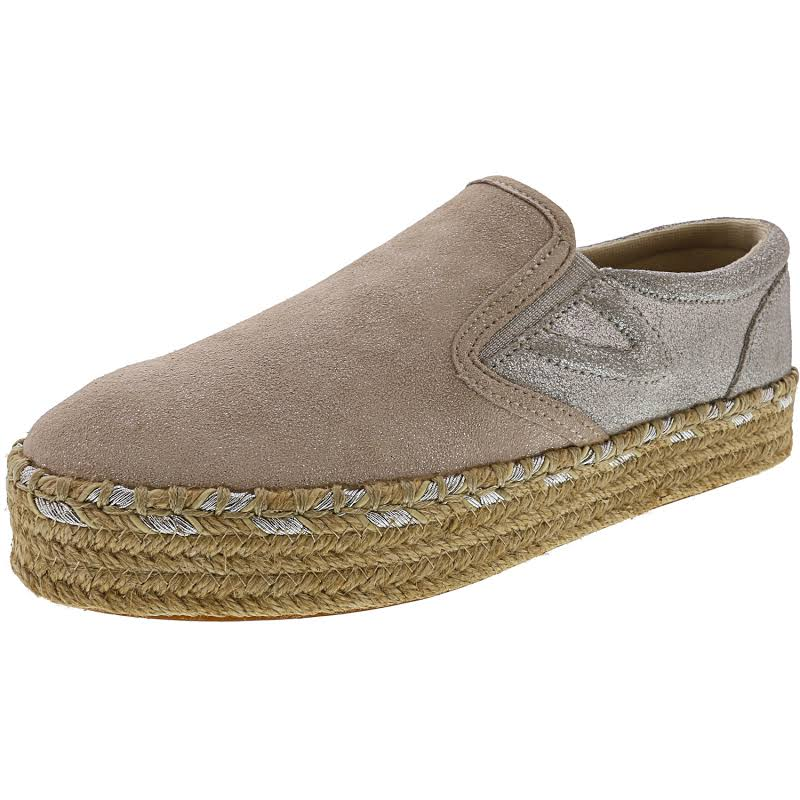 Tretorn Emilia 2 Suede Birch / Silver Ankle-High Slip-On Shoes 8M