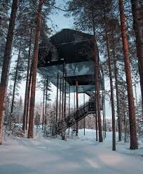 Ex Machina House This Treehouse Hotel In Isolated Lapland Forest Lets You Sleep