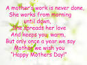WIN CUTS �� Happy mothers day quote