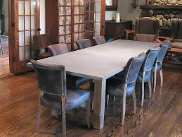 Rustic Modern Dining Room Tables by Concrete Custom Rustic Contemporary Dining Table Contemporary