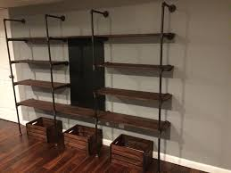 homemade modern diy pipe shelves 9 steps with pictures