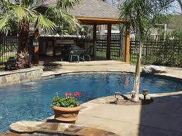 Unique Backyard Ideas by Unique Backyard Designs With Pool And Outdoor Kitchen On