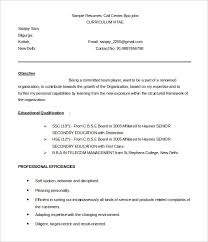 BPO Resume Template         Free Samples  Examples  Format Download     Template net