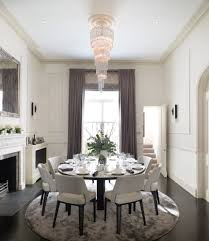 bachelor pad curtains dining room traditional with crown molding