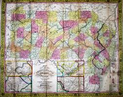 Map Of Pennsylvania And New Jersey by Pennsylvania In Early Pocket Maps