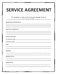 contract for service template service agreement template contract for service