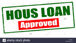 rubber stamp with text hous loan approved inside vector stock