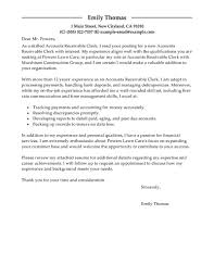 How To Write A Cover Letter For A College Application Leading Professional Accounts Receivable Clerk Cover Letter
