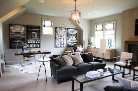 Family Room And Office Combo Design Ideas - Family room office