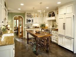 Old Wooden Kitchen Cabinets Kitchen Cool French Country Kitchen With Rustic White Wooden