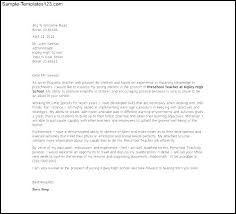 Letter Of Application  Letter Of Application Nursery School Teacher Cover Letter Templates