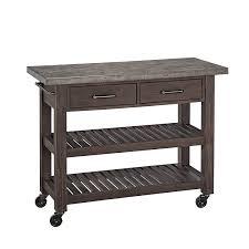 amazon com home styles concrete chic kitchen cart kitchen