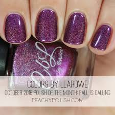 colors by llarowe october 2016 polish of the month swatches
