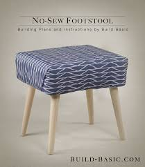 Footstools Ottomans by This Easy No Sew Stool Can Be Adjusted To Any Size And Assembled