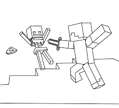 minecraft steve coloring pages getcoloringpages com