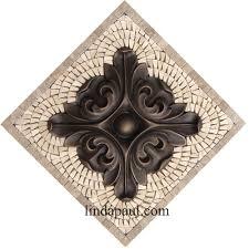 Metal Kitchen Backsplash Tiles Small Kitchen Back Splash Medallions Mosaic Stone And Metal