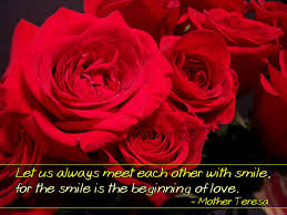 Mother Teresa Quotes On Love by Smile Is The Beginning Of Love