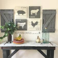 Modern Farmhouse Interior by Farmhouse Animal Decor 4 Pcs Set Modern Farmhouse Wall