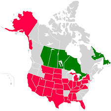 United States And Canada Map by File Oil Producing Usa States Canada Provinces Map Svg Wikimedia