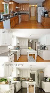 concrete countertops painting oak kitchen cabinets white lighting