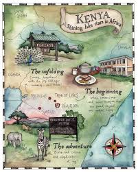 Map Of Kenya Africa by Candace Rose Rardon Illustrated Map Of Kenya Candace Rose Rardon