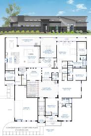 Contemporary Home Plans And Designs Best 25 Courtyard House Plans Ideas On Pinterest House Floor