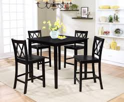 Counter Height Vanity Stool Essential Home Dahlia 5 Piece Square Table Dining Set Black