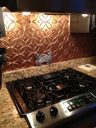 faux copper backsplash decorating pinterest copper