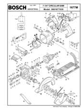 Bosch Table Saw Parts by Bosch 1677m Manuals
