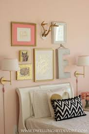 girls bedroom gallery wall beautiful pink and gold girls room